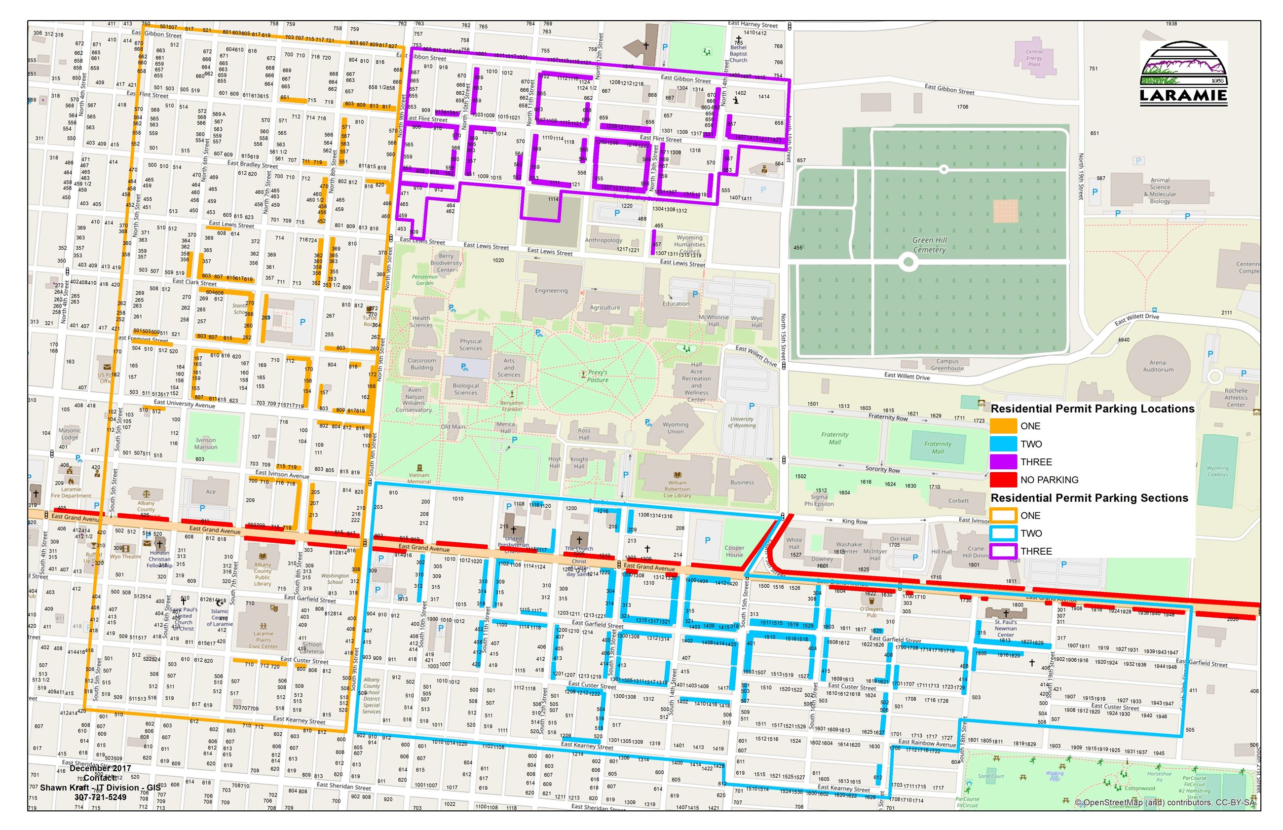 Permit Parking Residential Map