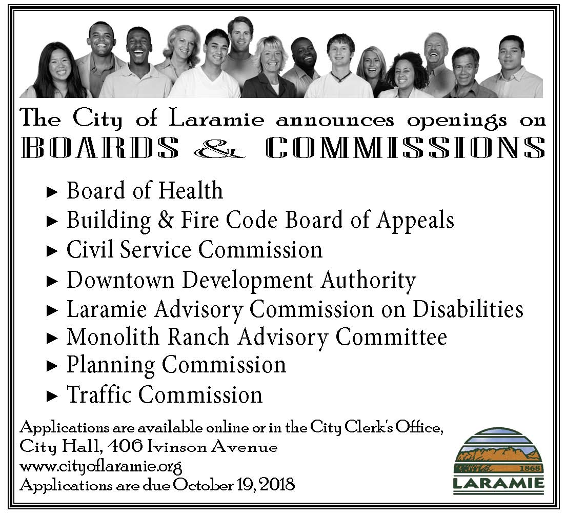 Boards_Commissions Appl--Oct 19,  2018 Deadline