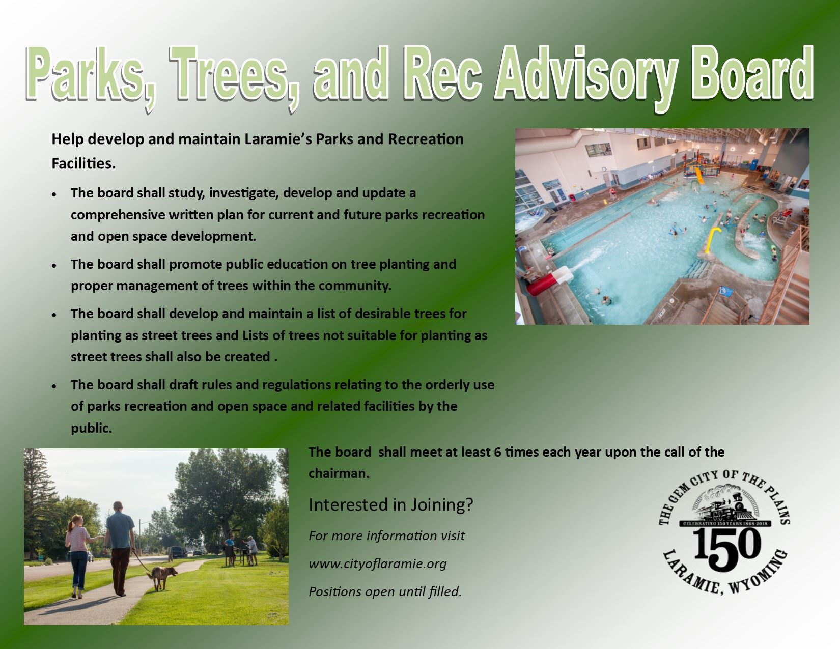 Parks, Trees, and Rec Advisory Board Ad 11-27-18