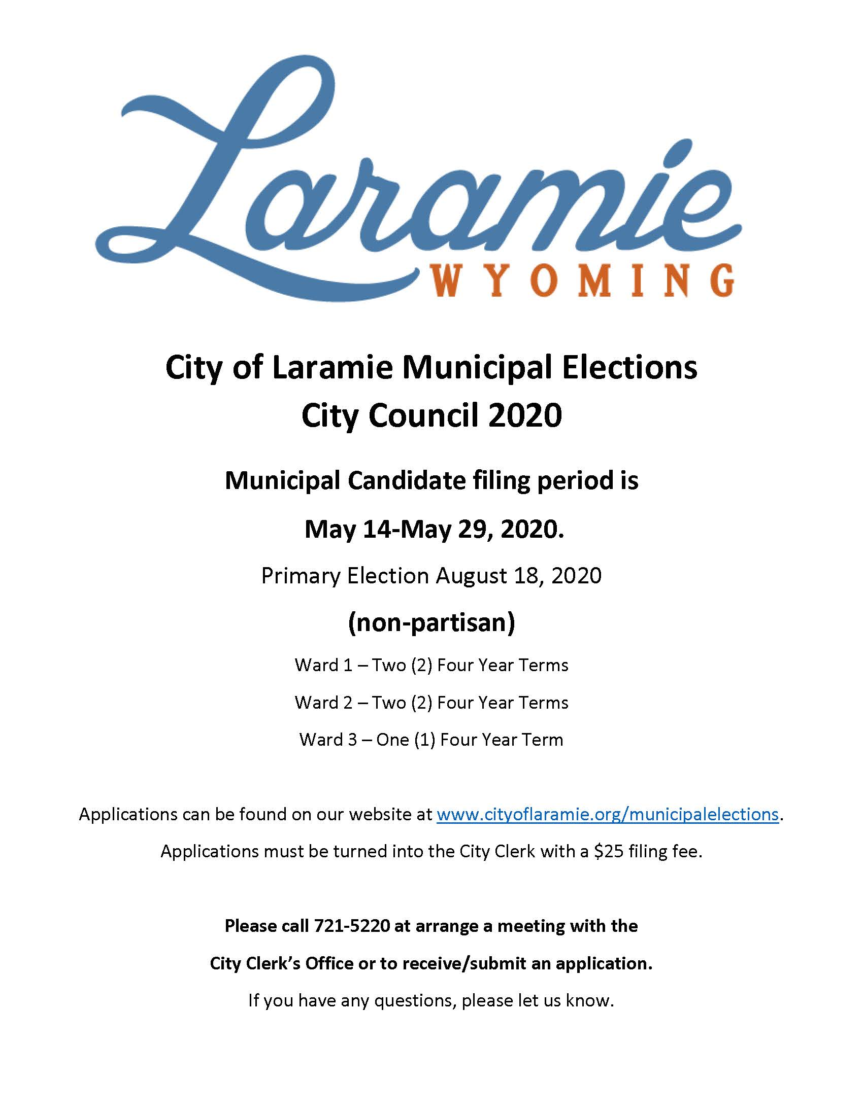Notice City Council 2020 Primary Election