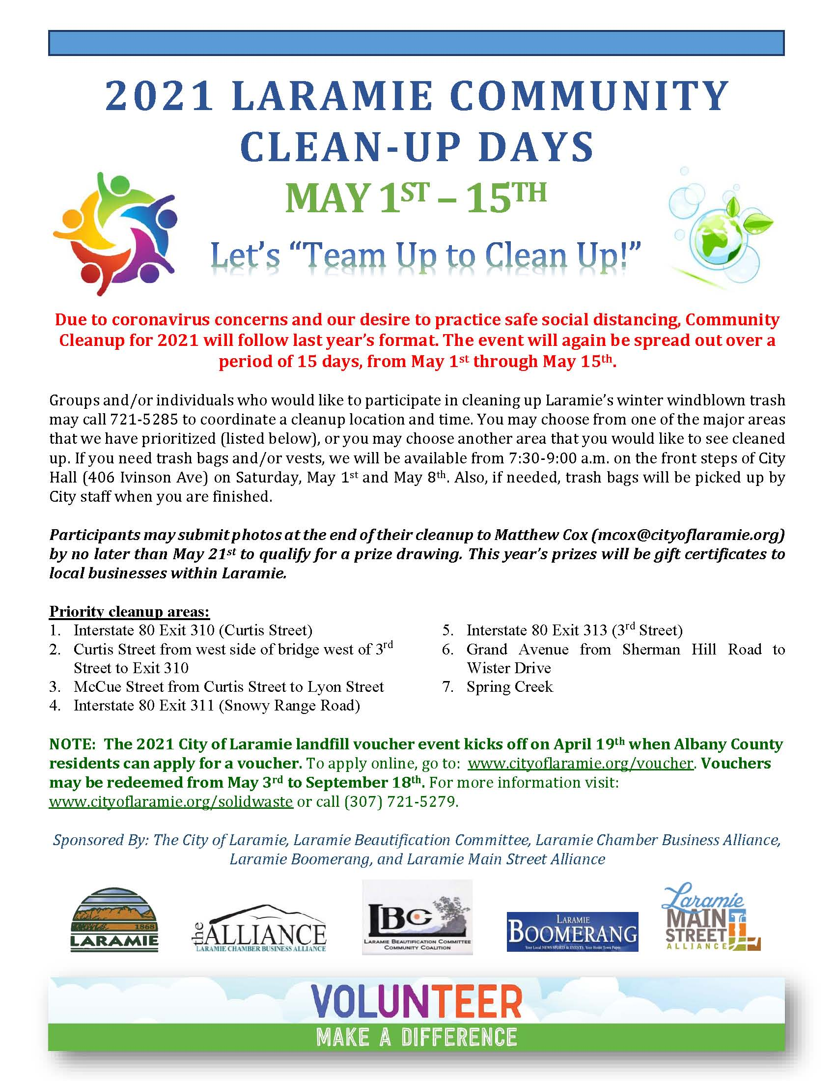 Spring Cleanup Flyer May 1-15 2021