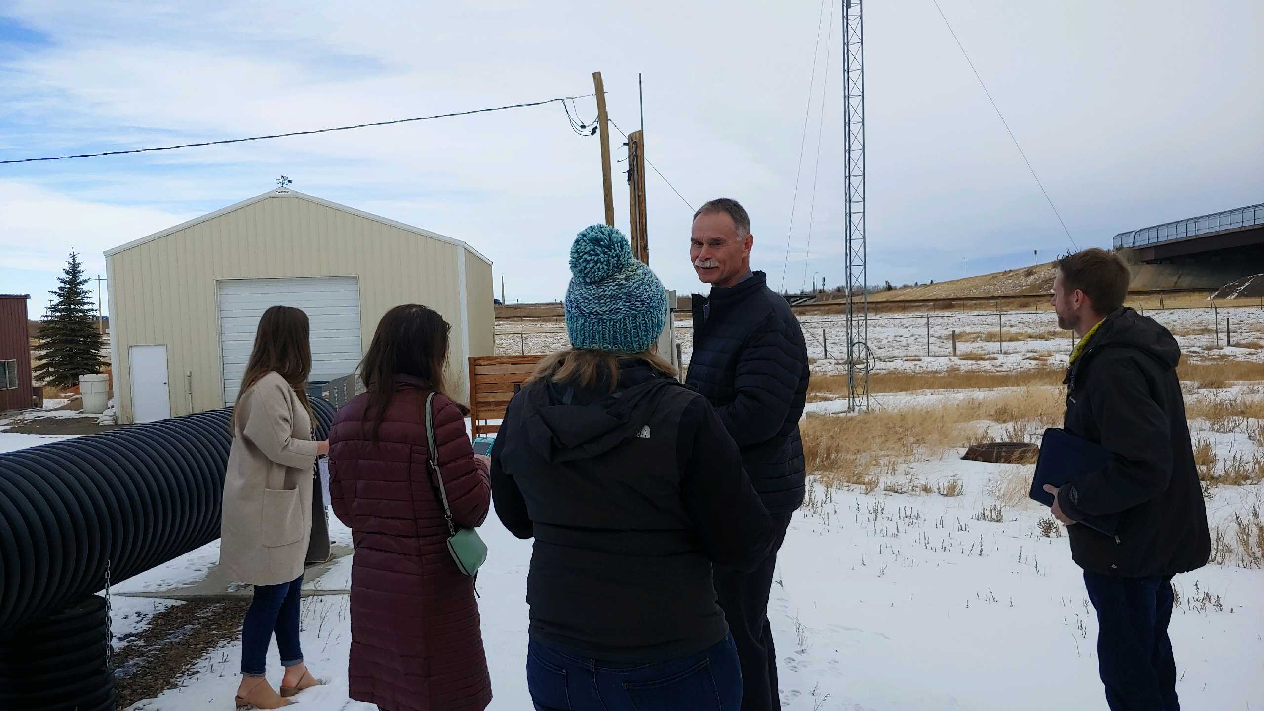 Chief Johnson Discusses Project during Tour